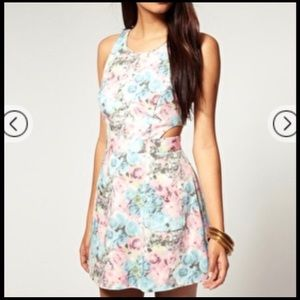 River island floral 60's dress